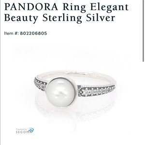 Pandora Ring Elegant Beauty Sterling Silver